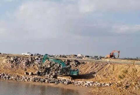 记者在现场丨鄱阳姜夔大道三期工程正在加快推进