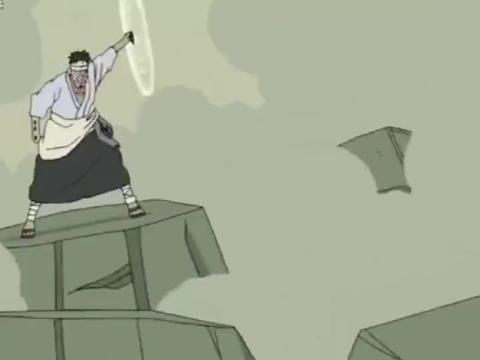 火影忍者:团藏的风遁不愧是最强!吹破木遁,连须佐都吹裂