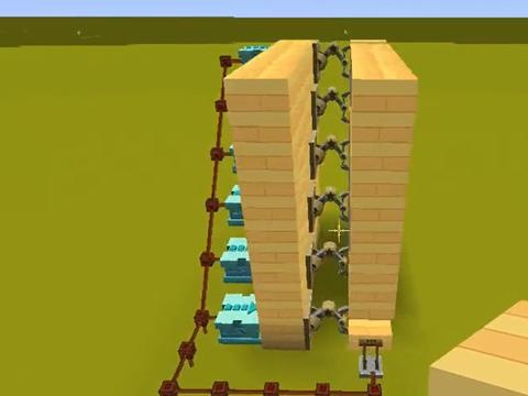 迷你世界:高级的隐藏楼梯教程,安装在家里简直不要太酷了!