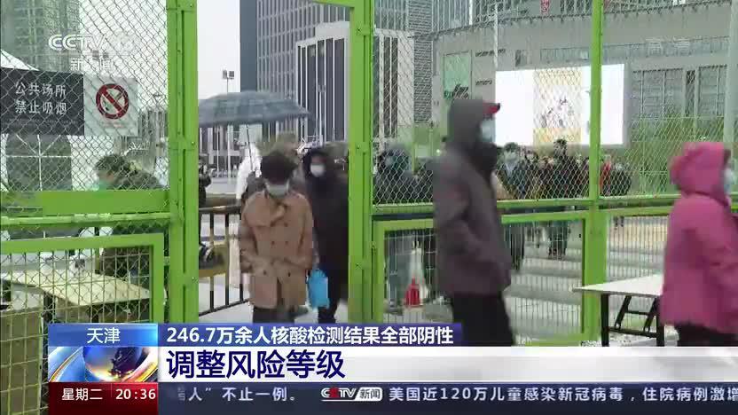 天津:246.7万余人核酸检测结果全部阴性 调整风险等级
