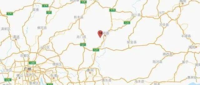 广东河源发生2.1级地震
