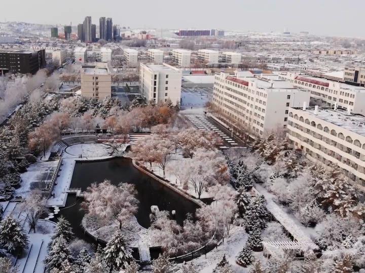 校园VLOG|榆林学院雪景