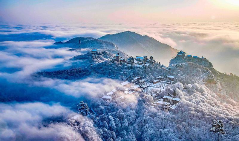 丰收了·游甘肃丨登山赏雪正当时 问道崆峒养生游