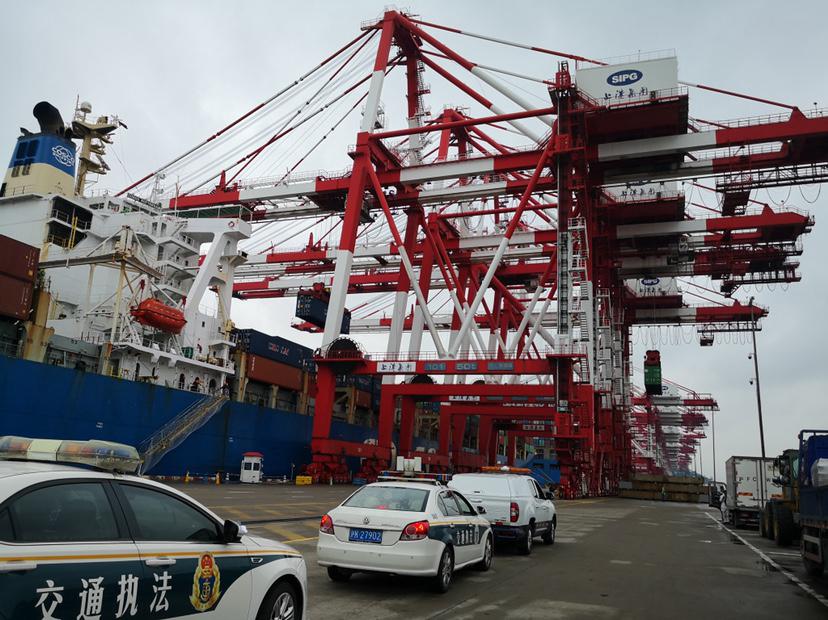 上海加大涉外码头防疫检查:非必要人员严禁登轮及下船图片