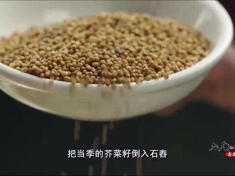 老广的味道:将芥菜籽磨成粉状,再用油纸包上放入锅里隔水蒸