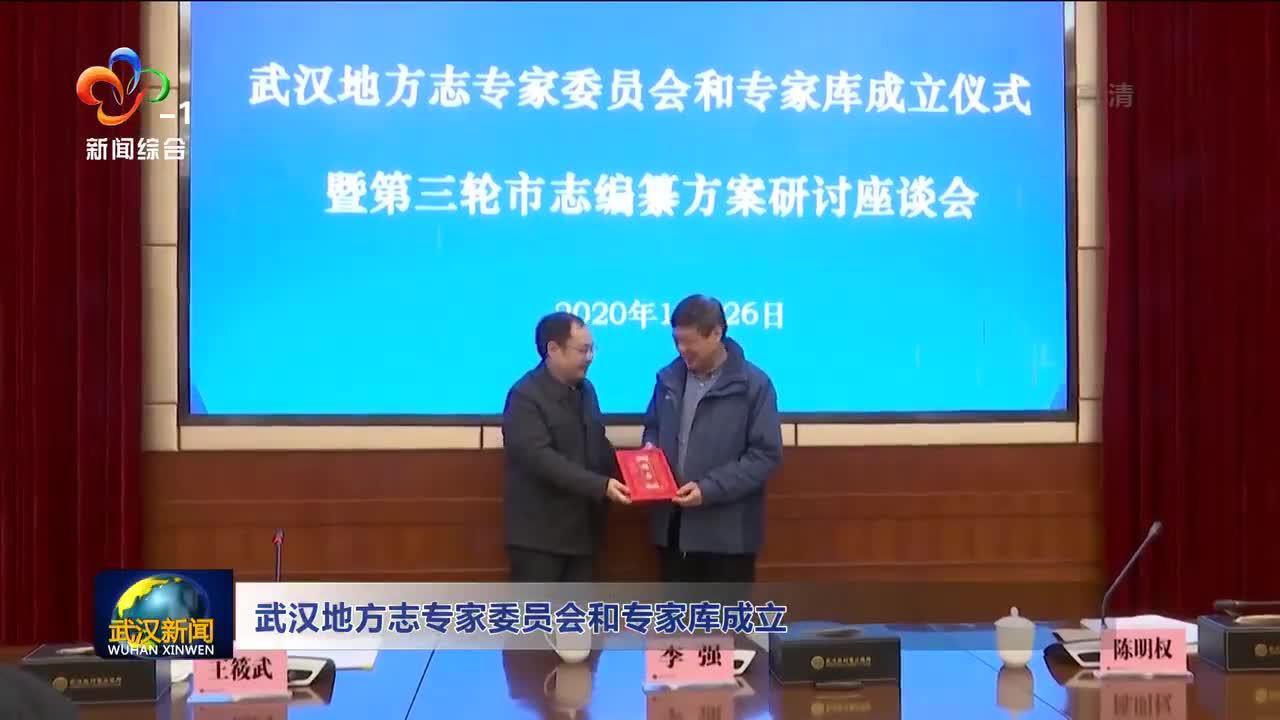 武汉地方志专家委员会和专家库成立