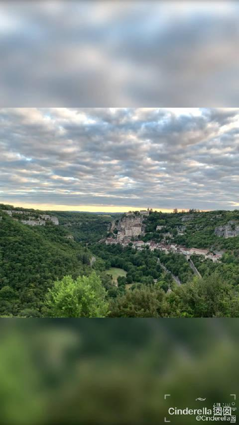 罗卡马杜儿的日落 多尔多涅河谷的小镇@绿洲旅行