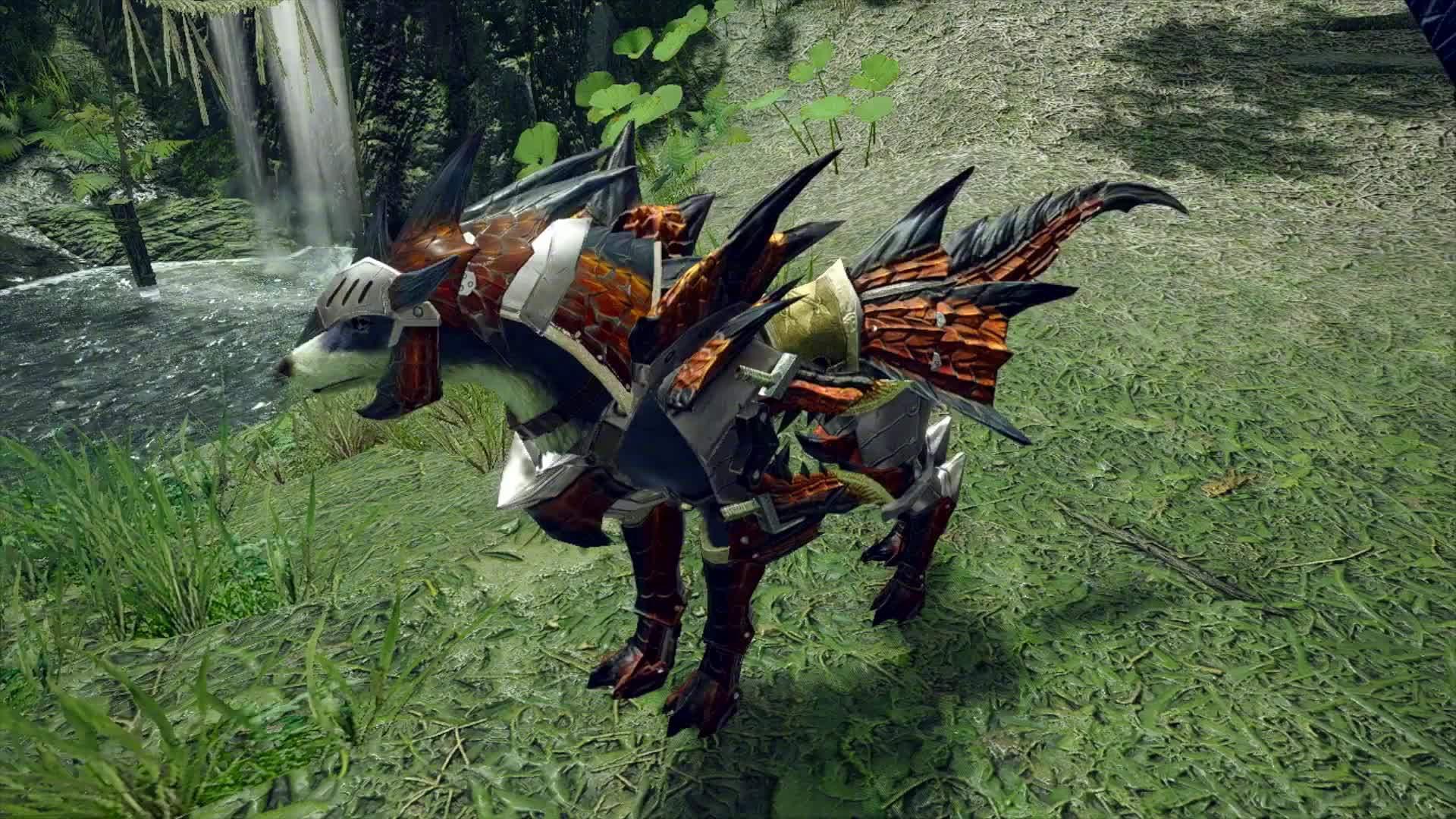 《怪物猎人崛起》牙猎犬防具展示。本作将于2021年3月26日发售
