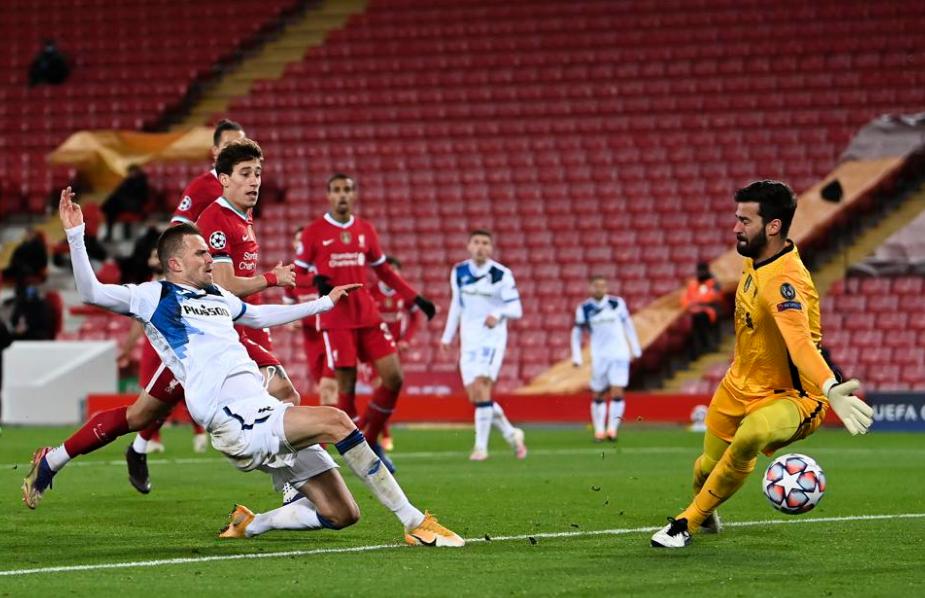 欧冠-戈麦斯助伊利契奇破门 利物浦0-2亚特兰大