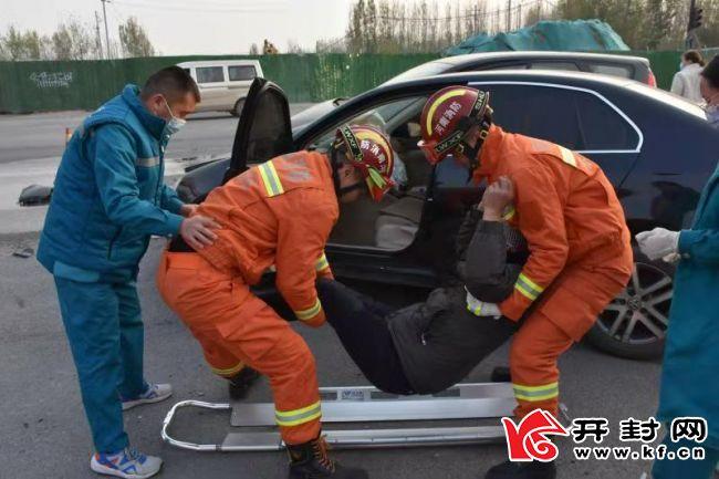 开封、郑州两地联合开展交通事故应急处置演练