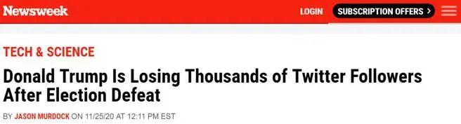 美媒发现:那天之后特朗普在掉粉,拜登在涨图片