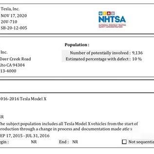 特斯拉终承认存在螺栓拧紧缺陷,召回Model X及Model Y近万辆