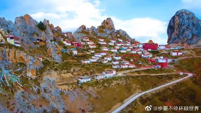 瞰传奇昌都丁青旅游,孜珠寺,海拔4800米之上异峰突起挺拔耸立