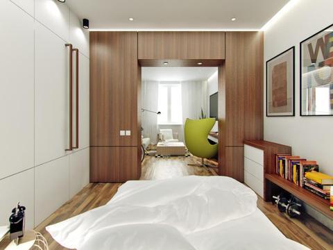 装修公司案例|一室一厅单身公寓装修这么宽敞实用?