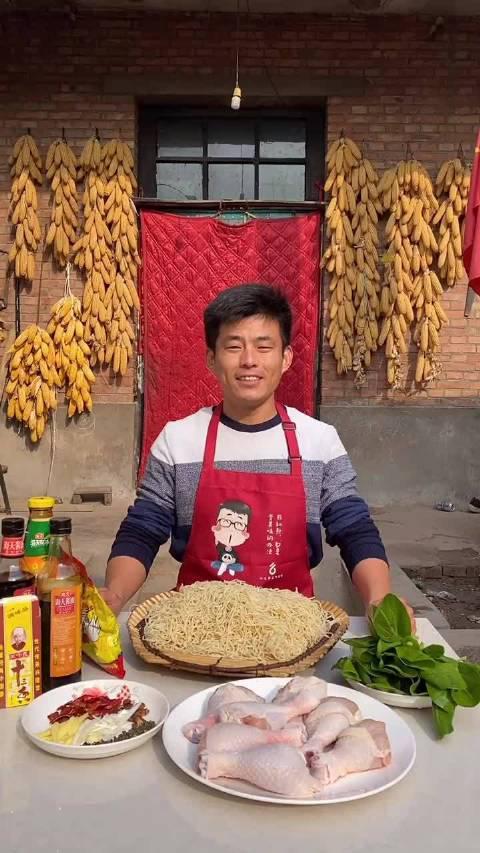 农村❤️会弟: 今天给爸妈做麻辣鸡块焖面吃