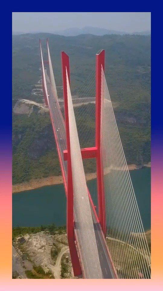 世界第三桥梁,桥面到谷底高度540米,厉害了我的国!