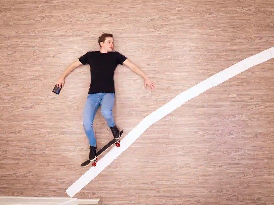666!躺地板三天制作的滑滑板视频