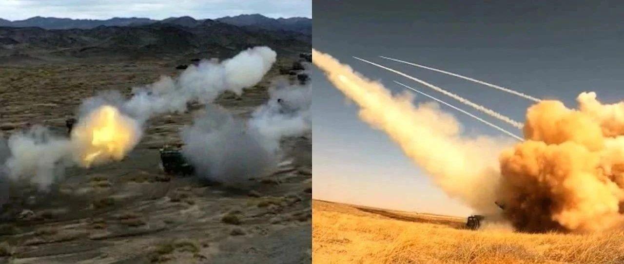烎烎烎!重炮挺进大戈壁,火箭炮、加榴炮双重火力打击丨央视《军事纪实》