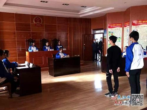 渝水区司法局开展青少年法治宣传教育活动(图)