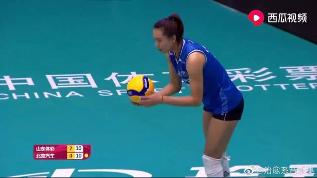 排超回放:山东女排3-0爆冷击败卫冕冠军北京女排