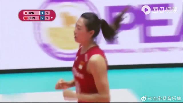 2019亚洲女排锦标赛,中国女排vs日本女排,队长刘晏含个人集锦