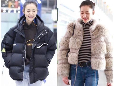 """刘雯居然在很认真地过冬?机场""""养生系""""搭配,保暖还时尚"""