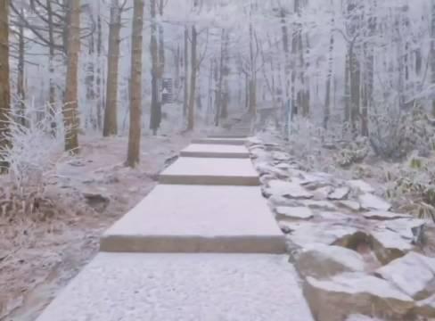 安徽天堂寨景区下雪