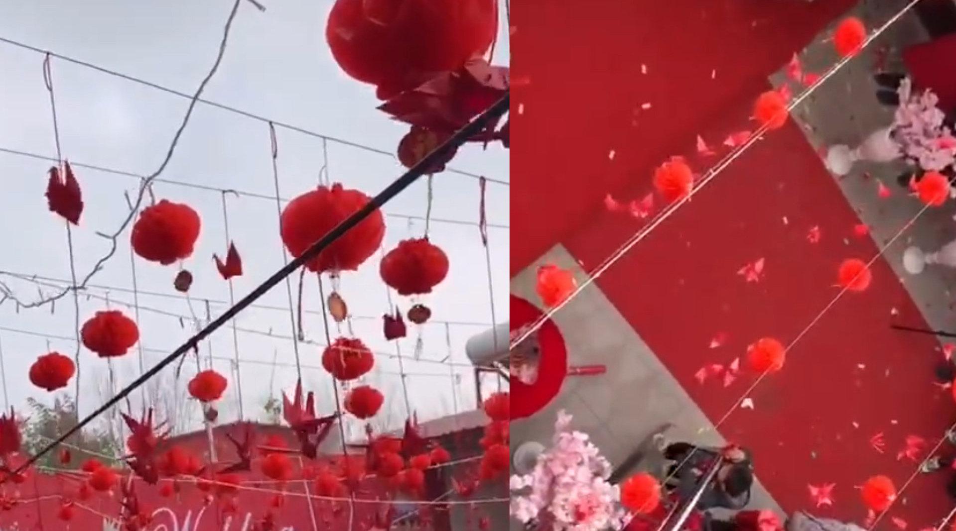新郎婚礼当天 现场挂满1314只千纸鹤 化妆师说出背后原因令人动容