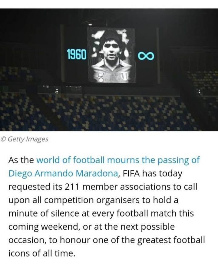 国际足联211个成员协会共同悼念,马拉多纳身后事却不平静