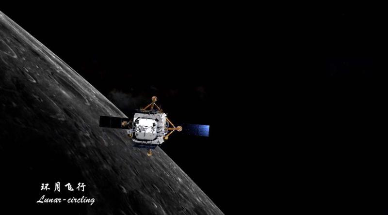 """成功""""刹车"""",嫦娥五号顺利进入环月轨道飞行"""
