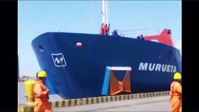 知道码头系缆桩有多硬了吧~ 锚都能给你干折了~