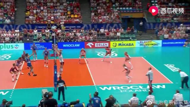 奥运女排资格赛:司玛泽科一点攻 波兰女排 VS 波多黎各女排 集锦
