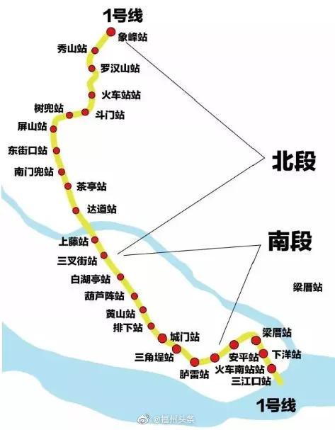福州 好消息!地铁1号线二期12月底开通初期运营