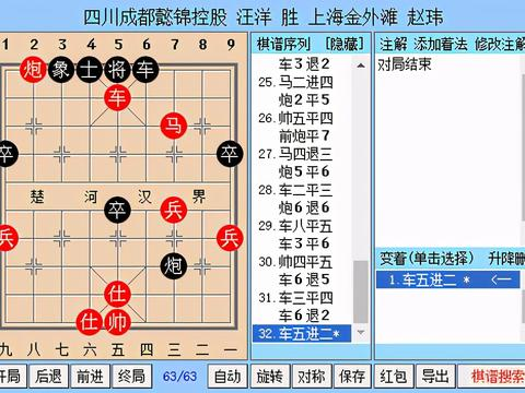 象甲联赛季后赛落下帷幕,四川队成功卫冕,广东队屈居第四