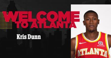 老鹰官方晒图欢迎邓恩:已正式签约,欢迎来到亚特兰大
