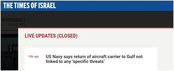 航母返回波斯湾,美军却说…图片