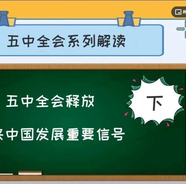 视频 | 五中全会释放未来中国发展重要信号(下)