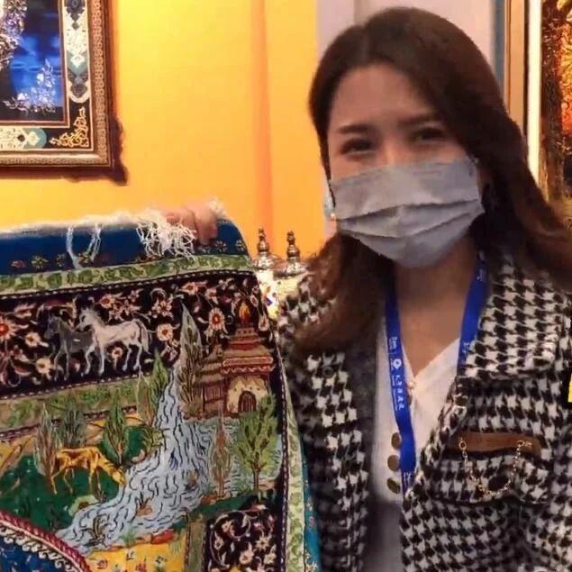 【2020东博会种草记】价值20多万人民币的波斯纯真丝手工地毯 你心动吗?