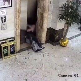 惊险!两男子醉酒误撞开电梯门,双双跌入电梯井
