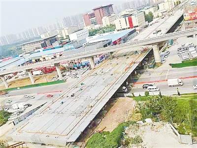 国道310线郑州西南段改建桥梁工程已完工96.3%