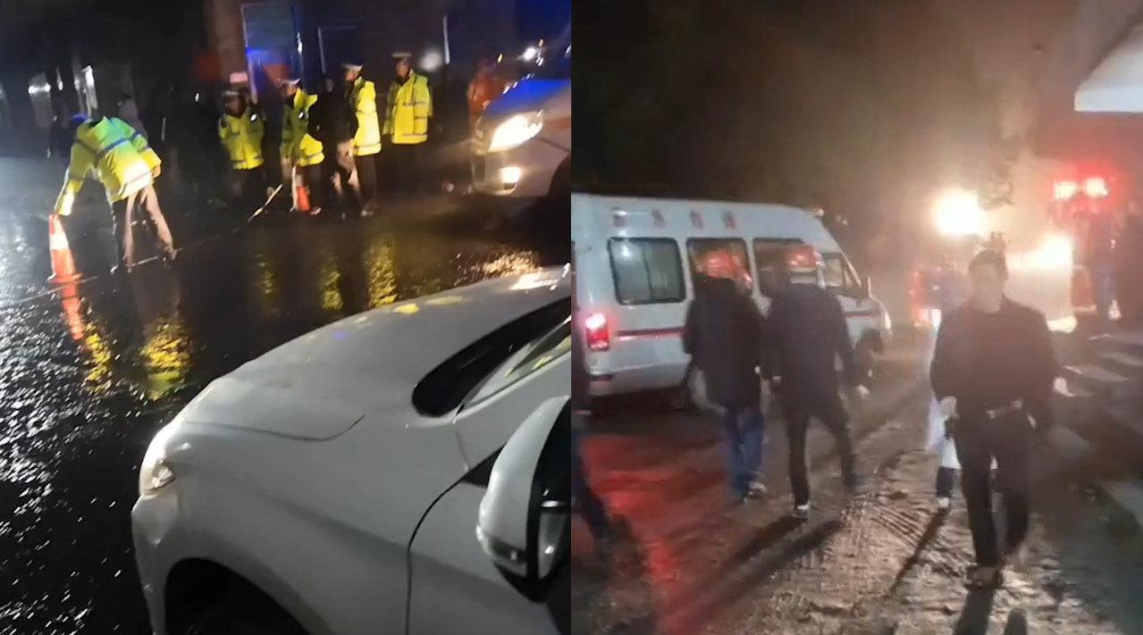 湖南耒阳煤矿透水事故13人被困急救车辆停满现场救援现场曝光