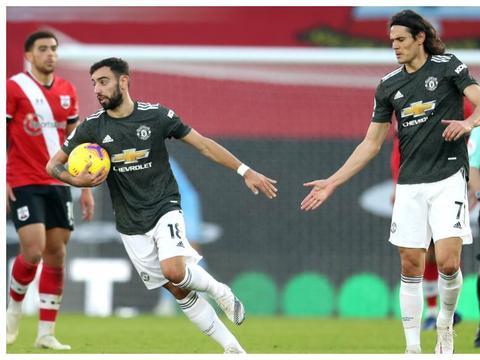 曼联4连胜,红魔3球逆转圣徒,卡瓦尼1传2射索帅为何不重用