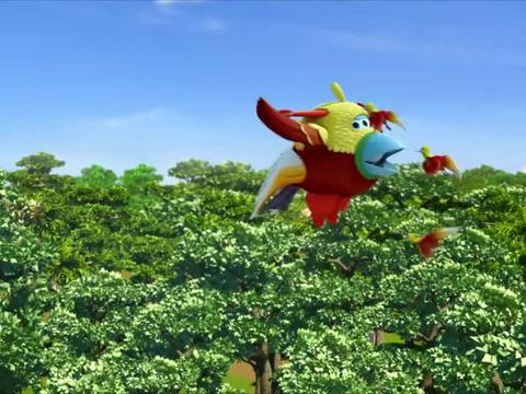 超级飞侠:胡须爷爷打扮乐迪,将乐迪变成鸟,小鸟将乐迪当成领队