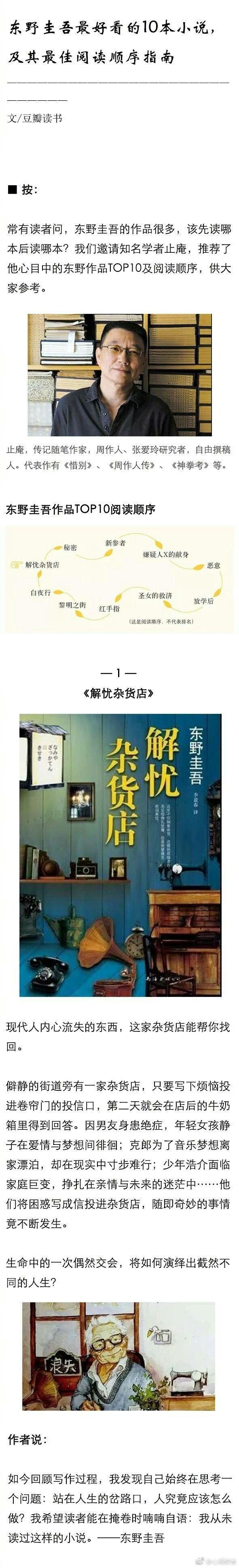 东野圭吾最好看的10本小说,及其最佳阅读顺序指南