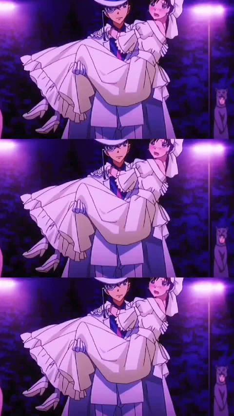 怪盗基德的甜蜜日常,青子在他面前就像是个小孩子呢