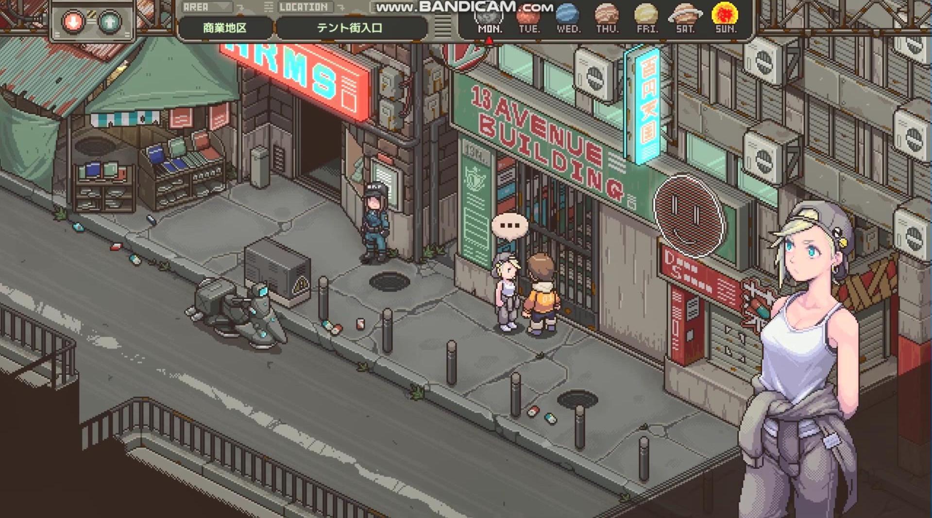 由日本游戏爱好者ウマー一个人开发的独立游戏《留在地球》……