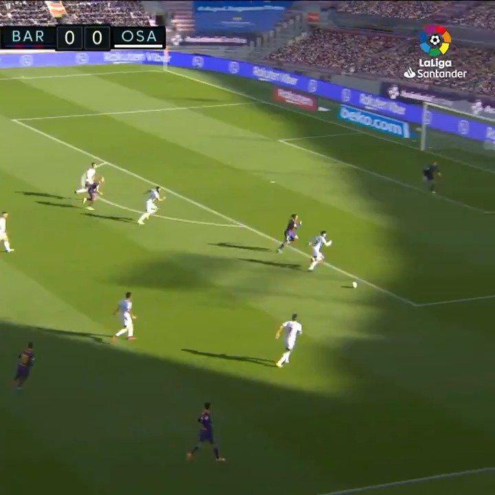 巴萨4-0大胜奥萨苏纳,视频第35秒格列兹曼惊天世界波