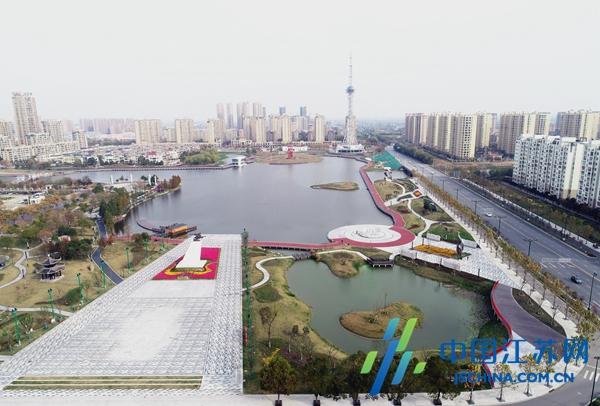 兴化昭阳湖公园成为水乡新地标
