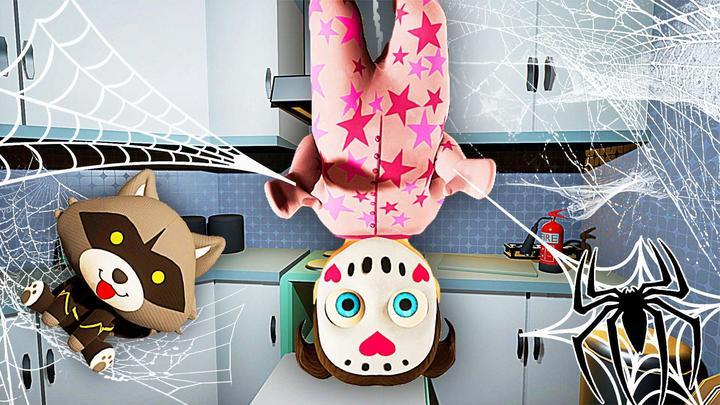 奇怪女宝宝 这个宝宝是蜘蛛侠后代,她会倒吊在房顶上 屌德斯解说