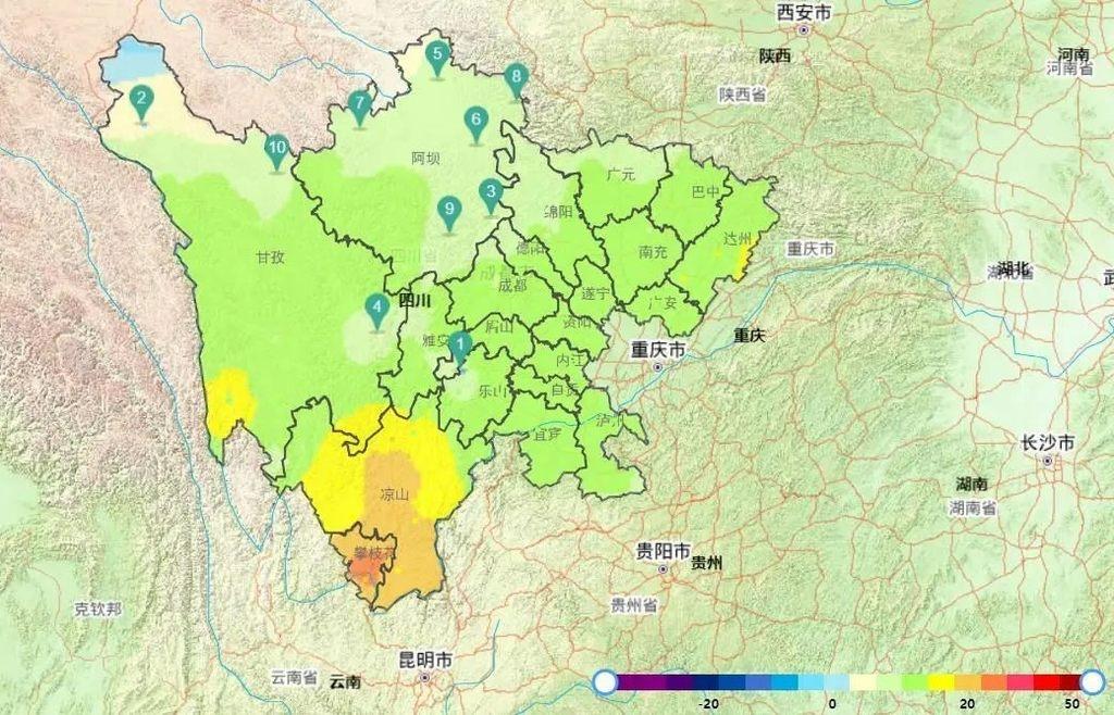 气温持续偏低!未来一周,四川有两次弱降温降雨过程